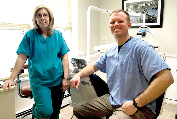 Office Manger/Assistant: Debbie Tria and Dr. Eric Christensen, Advanced Dental Technologies, Laser Treatments